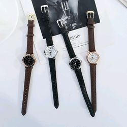 Đồng hồ cặp đôi nam nữ dây da giá sỉ