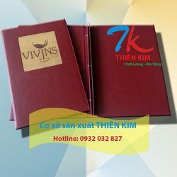 Xưởng gia công bìa menu cuốn menu da nhận cung cấp cuốn menu giá rẻ giá sỉ