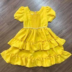 Đầm thiết kế đũi sướt bé gái giá sỉ tphcm