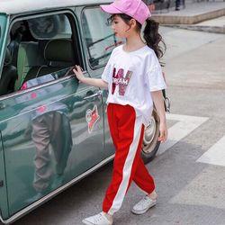 Bộ thun W phong cách bé gái giá sỉ, giá bán buôn