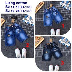 Quần lửng jean cotton giá sỉ