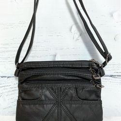 Túi xách nữ nhiều ngăn màu đen đeo vai TX0001 giá sỉ