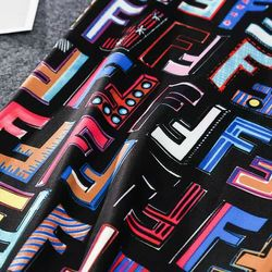 chân váy bút chì Chữ F 3D ngũ sắc giá sỉ