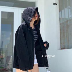 áo khoác nữ đẹp kiểu hàn quốc dễ thương giá sỉ kaki mũ 2 túi hộp BN 86254 giá sỉ