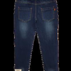 990166-ZM1- Quần jean BGbagge dài 1 lớpthêu hoa dâyxanh đậmMade in VietNamsize nhỡ 9-14/ri6 giá sỉ