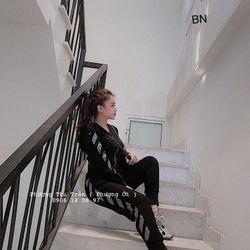 set bộ đồ nữ đẹp chất cá tính dễ thương giá rẻ thể thao kéo khóa off BN 08740 giá sỉ, giá bán buôn