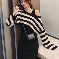 set bộ đồ nữ đẹp chất cá tính dễ thương giá rẻ váy ba lỗ áo croptop kẻ BN 25770 giá sỉ