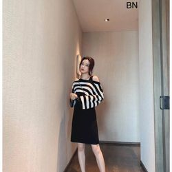 set bộ đồ nữ đẹp chất cá tính dễ thương giá rẻ váy ba lỗ áo croptop kẻ BN 25770 giá sỉ, giá bán buôn