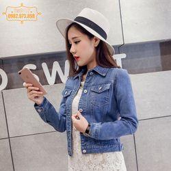 HÀNG MỚI VỀ Áo khoác jean nữ thời trang với nhiều gam màu cá tính - KB322