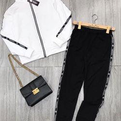 set bộ đồ nữ đẹp chất cá tính dễ thương giá rẻ thể thao viền CHAN khóa tròn BN 38960 giá sỉ, giá bán buôn