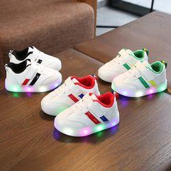 Giày thể thao cho bé trai bé gái có đèn 2 sọc giá sỉ