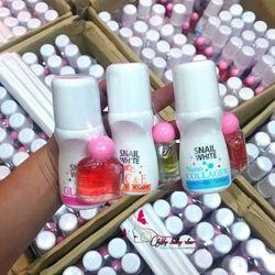Lăn khử mùi nữ Snail White Thái Lan tặng kèm 1 chai nước hoa mini giá sỉ