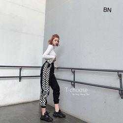 set bộ đồ nữ đẹp chất cá tính dễ thương giá rẻ áo body quần jogger caro BN 67651 giá sỉ