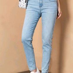 Quần jeans nữ trơn xanh nhạt giá sỉ