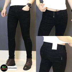 Quần jean nam trơn màu đen - trắng giá sỉ