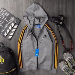 Áo khoác thể thao Das sọc có mũ- xưởng may quần áo thể thao giá sỉ
