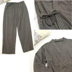 Đồ bộ mặc nhà Nam chấm bi phong cách nhậttao nhã sang trọng-211 giá sỉ, giá bán buôn