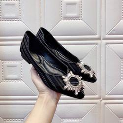 Giày bup bê lụa giá sỉ