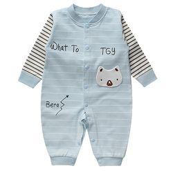 Bộ áo liền quần cho bé sơ sinh cotton thun thoáng mát 118 giá sỉ
