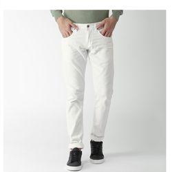 Quần Jean nam trắng đen trơn- Rẻ bền đẹp giá sỉ