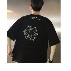 Áo thun Unisex hình học đen- Rẻ bền đẹp giá sỉ
