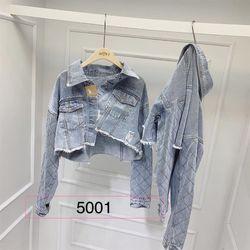 Áo khoác jean tay quả trám giá sỉ