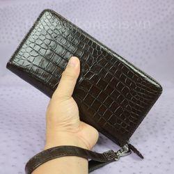 Ví Cầm Tay Nữ Da Cá Sấu CW22V Vân Bụng Màu Nâu Thời Trang Sang Trọng Tiện Lợi giá sỉ, giá bán buôn
