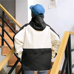 áo khoác dù fom undisex phối dây kéo lưng giá sỉ