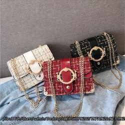 Túi đeo chéo bọc vải xù T288 giá sỉ