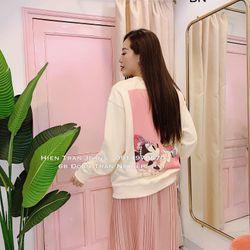 áo phông thun nữ đẹp kiểu hàn quốc dễ thương giá sỉ dài tay mickey BN 04587 Kèm Ảnh Thật