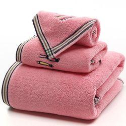Set 3 Khăn siêu thấm chất liệu 100 cotton1 khăn tắm lớn 70x140 2 khăn mặt 34x75- 205 giá sỉ
