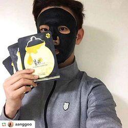Mặt nạ tinh chất mật ong - Black Honey Mask Pack 25ml10 miếng
