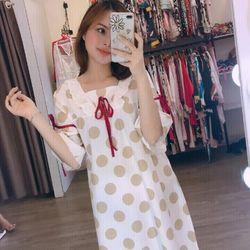Đầm ngủ bánh bèo nữ lụa QC cao cấp giá sỉ
