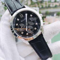 Đồng hồ nam Bulova Chronograph Diamond Accent Black