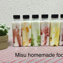 Sữa chua uống sốt trái cây Chanh dây Kiwi Dâu Đào Phúc bồn tử Việt quất Chai 250ml và 330 ml giá sỉ