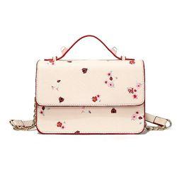 Túi đeo chéo nữ in hoa chất da cao cấp hàng Quảng Châu giá sỉ
