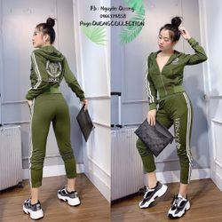 set bộ đồ nữ đẹp chất cá tính dễ thương giá rẻ thể thao mũ khóa vers BN 89447 Kèm Ảnh Thật giá sỉ