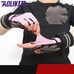 Găng tay tập gym nữ có quấn cổ tay bảo vệ AOLIKES