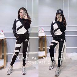set bộ đồ nữ đẹp chất cá tính dễ thương giá rẻ thể thao 3 sọc BN 97995 Kèm Ảnh Thật giá sỉ