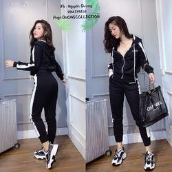 set bộ đồ nữ đẹp chất cá tính dễ thương giá rẻ phối mầu mũ 2 lớp balen BN 88426 Kèm Ảnh Thật giá sỉ