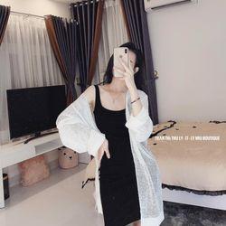 set bộ đồ nữ đẹp chất cá tính dễ thương giá rẻ áo body áo khoác len dáng dài BN 56138 Kèm Ảnh Thật giá sỉ