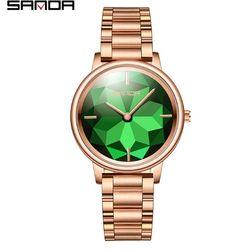 Đồng hồ Sanda nữ 1019 màu xanh lá giá sỉ