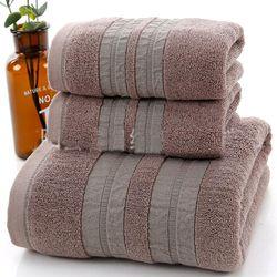 Set 3 Khăn siêu thấm chất liệu 100 cotton1 khăn tắm lớn 70x140 2 khăn mặt 34x75- 207 giá sỉ