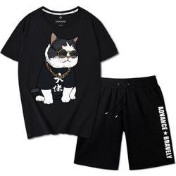 bộ thể thao nam hình mèo hoàng thượng