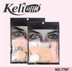 Bông mút trang điểm tán kem nền phấn phủ Keli Beauty gói 9 miếng tiện dụng giá sỉ, giá bán buôn