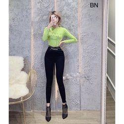 quần legging nữ cao cấp đẹp giá rẻ hàn quốc thể thao cạp cao chéo chữ BN 13874 Kèm Ảnh Thật giá sỉ