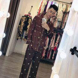 đồ bộ pijama mặc nhà nam lụa QC cao cấp giá sỉ