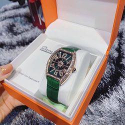 Đồng hồ nữ Davena xanh lá cực hot