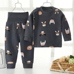 Bộ quần áo thu trẻ em chất dày và ấm giá sỉ
