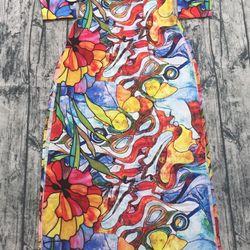 Áo dài truyền thống lụa tơ 7 màu giá sỉ, giá bán buôn